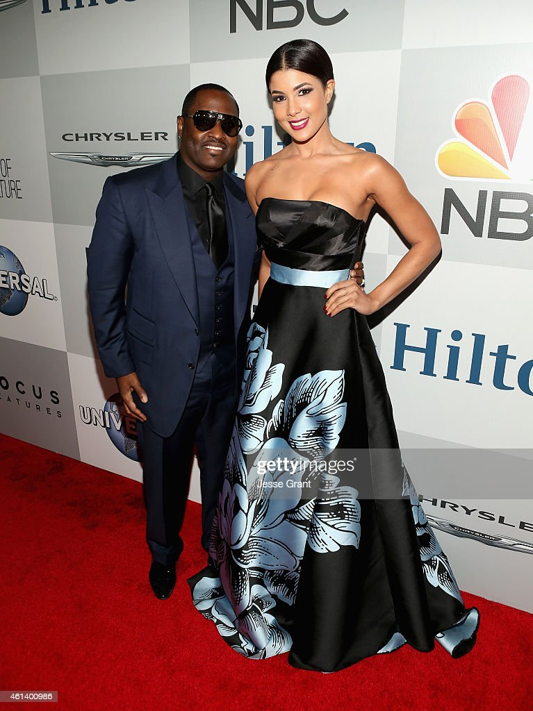 Singer Johnny Gill and Guest attend Universal, NBC, Focus Features and E! Entertainment 2015 Golden Globe Awards After Party sponsored by Chrysler and Hilton at The Beverly Hilton Hotel on January 11, 2015 in Beverly Hills, California.