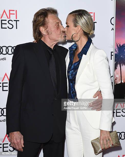 Singer Johnny Hallyday and actress Laeticia Hallyday arrive at AFI FEST 2016 Presented by Audi Opening Night Premiere of 20th Century Fox's 'Rules...