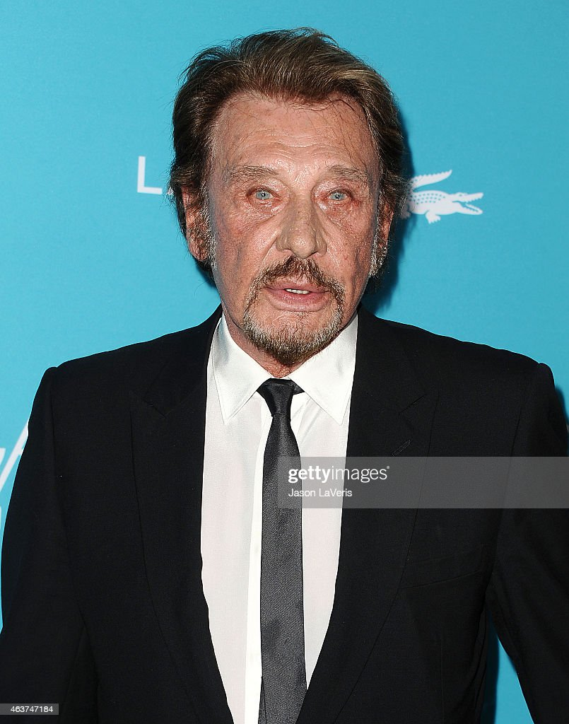 Singer Johnny Hallyday attends the 17th Costume Designers Guild Awards at The Beverly Hilton Hotel on February 17, 2015 in Beverly Hills, California.