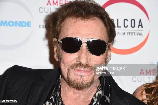 Singer Johnny Hallyday attends the premiere of 'Everyone's Life' on the opening night of COLCOA French Film Festival April 24 2017 at the Director's...
