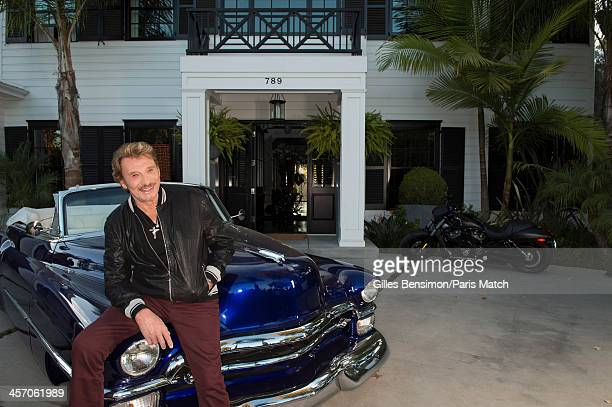 Singer Johnny Hallyday is photographed at home for Paris Match on November 14 2013 in Los Angeles California