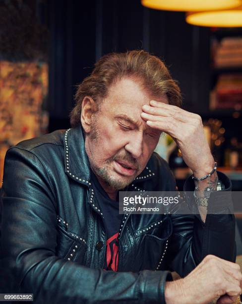 Singer Johnny Hallyday is photographed for Self Assignment on February 24 2017 in Los Angeles California