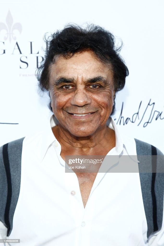 Singer Johnny Mathis attends Richard Grieco's opening night gala for his one-man art exhibit 'Sanctum Of A Dreamer!' at Gallerie Sparta on August 15, 2013 in West Hollywood, California.