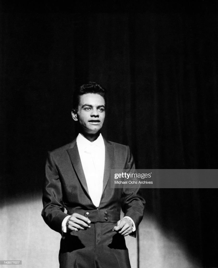 Singer Johnny Mathis performs circa 1956 in Los Angeles California
