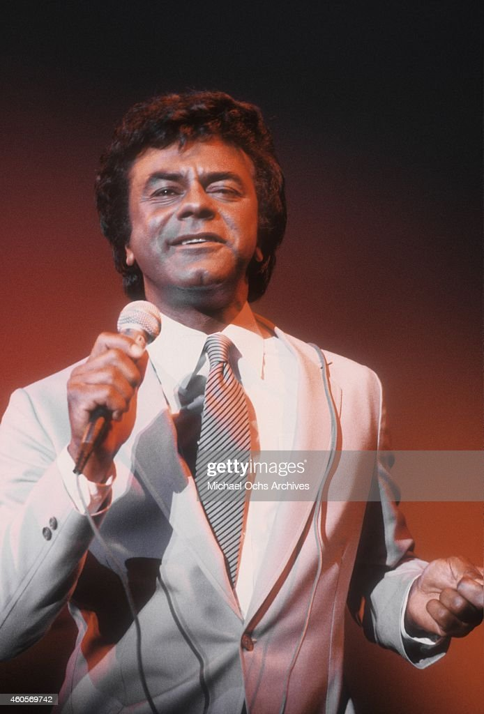 Singer Johnny Mathis performs live circa 1979 in Los Angeles California