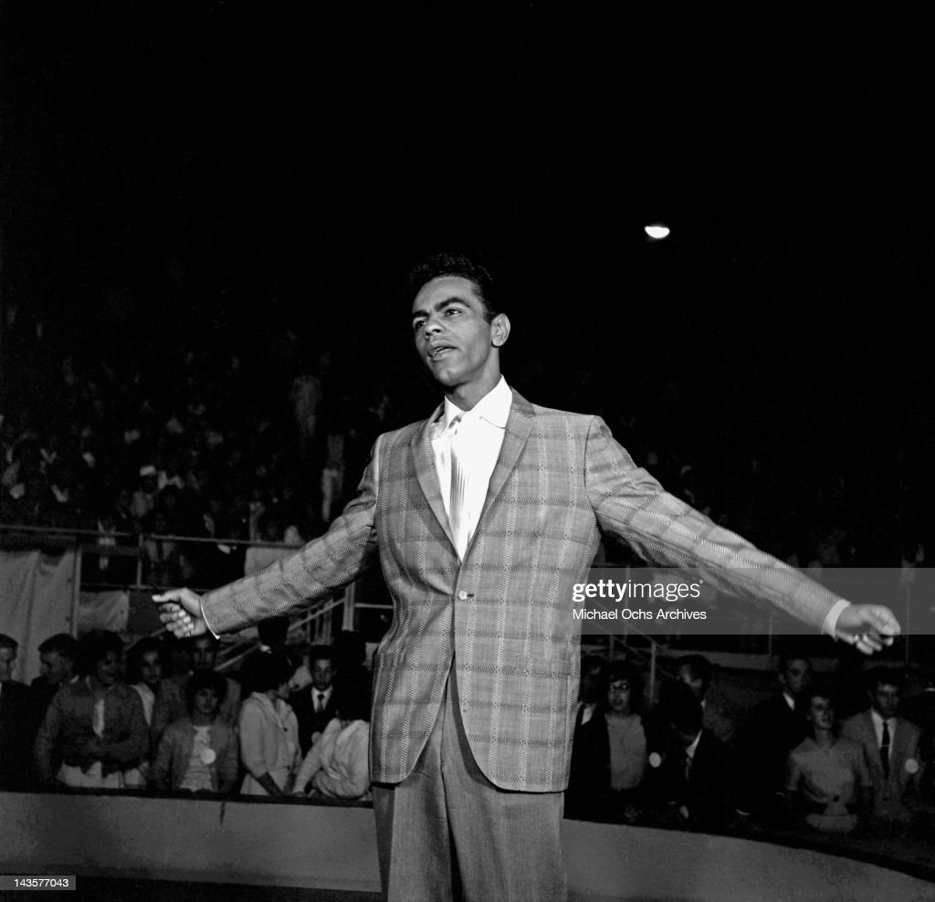Singer Johnny Mathis performs on Wink Martindale's TV Dance Party in Santa Monica California