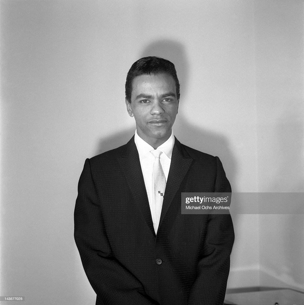 Singer Johnny Mathis poses for a portrait on circa 1958 in Los Angeles California