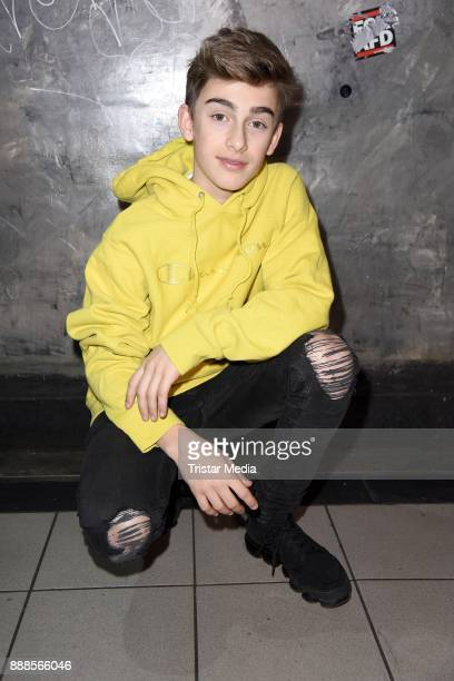 US singer Johnny Orlando during a exclusive photo session at Luxor Club on December 8 2017 in Cologne Germany
