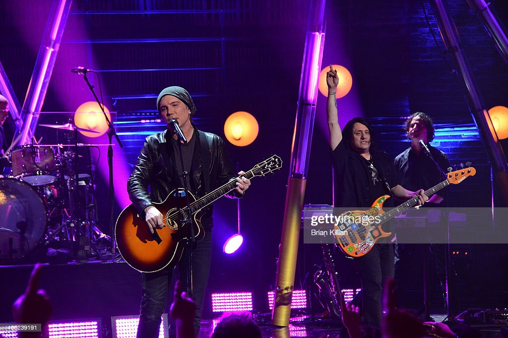 Singer Johnny Rzeznik and bassist <a gi-track='captionPersonalityLinkClicked' href=/galleries/search?phrase=Robby+Takac&family=editorial&specificpeople=778886 ng-click='$event.stopPropagation()'>Robby Takac</a> of the group The Goo Goo Dolls perform during VH1's 'Super Bowl Blitz: Six Nights + Six Concerts' at St. George Theatre on January 31, 2014 in the Staten Island borough of New York City.