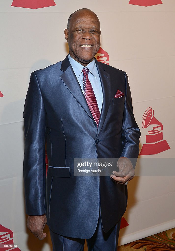 Singer Johnny Ventura arrives at the 2012 Latin Recording Academy Special Awards during the 13th annual Latin GRAMMY Awards at the Four Seasons Hotel on November 14, 2012 in Las Vegas, Nevada.