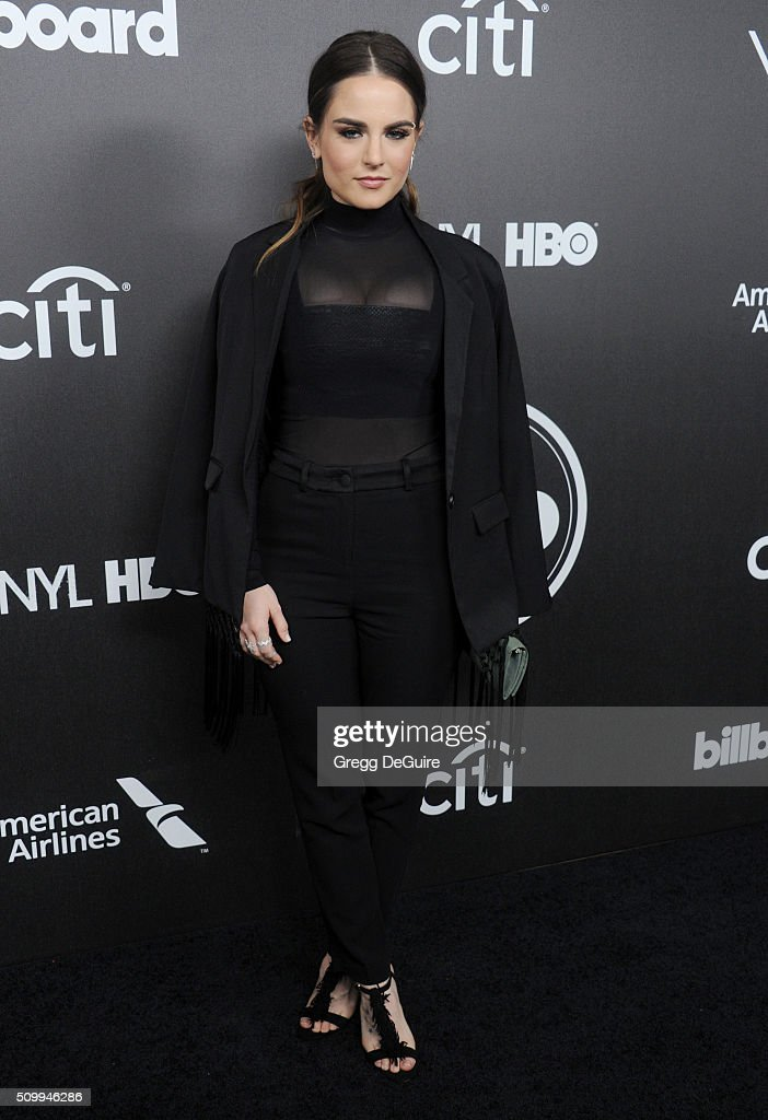 Singer <a gi-track='captionPersonalityLinkClicked' href=/galleries/search?phrase=JoJo+-+Singer&family=editorial&specificpeople=202981 ng-click='$event.stopPropagation()'>JoJo</a> arrives at the 2016 Billboard Power 100 Celebration at Bouchon on February 12, 2016 in Beverly Hills, California.