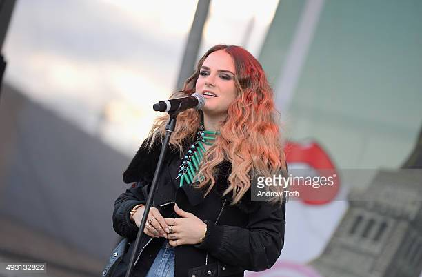 Singer JoJo performs onstage during the 2nd Annual Beautycon New York City Festival at Pier 36 on October 17 2015 in New York City
