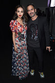 Singer Jolin Tsai and designer Marc Jacobs pose backstage at Marc Jacobs Fall 2016 fashion show during new York Fashion Week at Park Avenue Armory on...