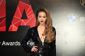 Singer Jolin Tsai arrives at the red carpet of 26th Golden Melody Awards 7 Festival on June 27 23015 in Taipei Taiwan of China