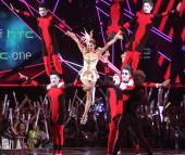 Singer Jolin Tsai attends 2013 Hito Music Awards at Taipei Arena on June 2 2013 in Taipei Taiwan
