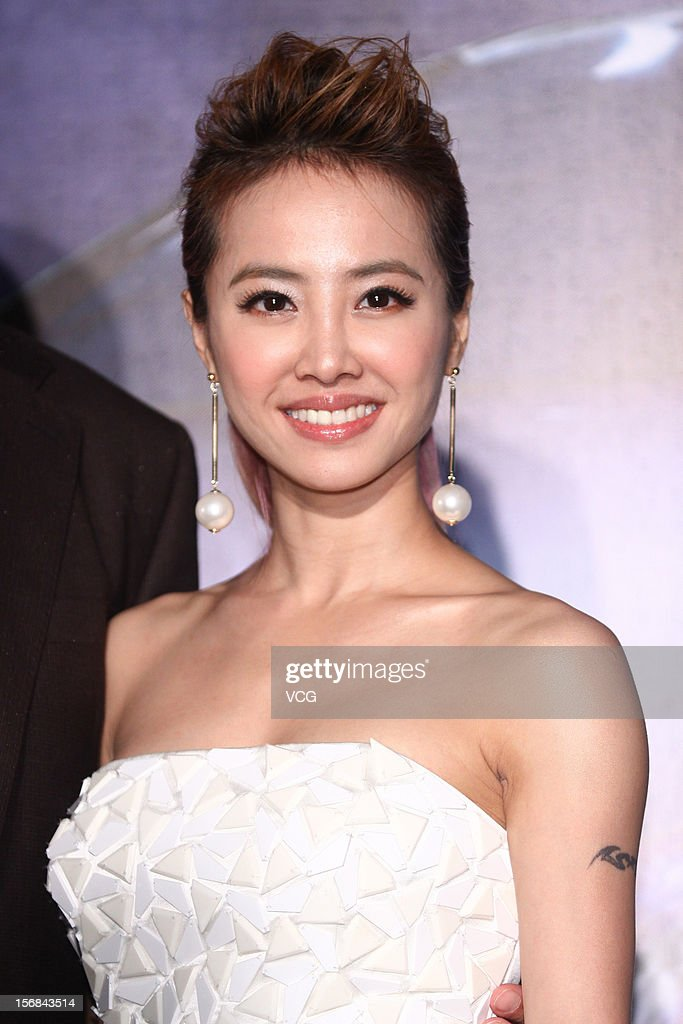 Singer Jolin Tsai attends a Mercedes-Benz promotional event at the Chiang Kai-shek Memorial Hall on November 22, 2012 in Taipei, Taiwan.