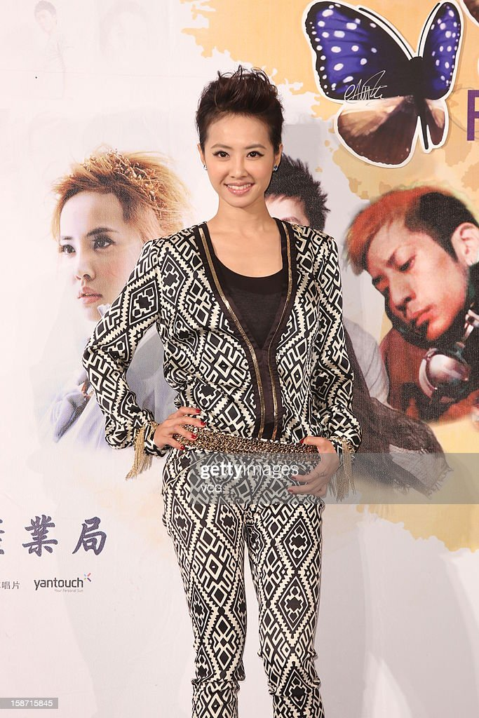Singer Jolin Tsai attends a press conference before going to Cannes to attend the MIDEM 2013 on December 25, 2012 in Taipei, Taiwan.