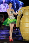 Singer Jolin Tsai attends her music video 'The Great Artist' launch at Taipei Circle on August 22 2012 in Taipei Taiwan