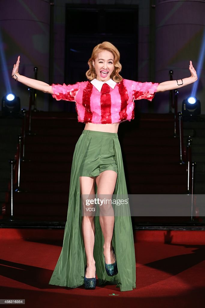 Singer Jolin Tsai Attends New Album Release In Taipei