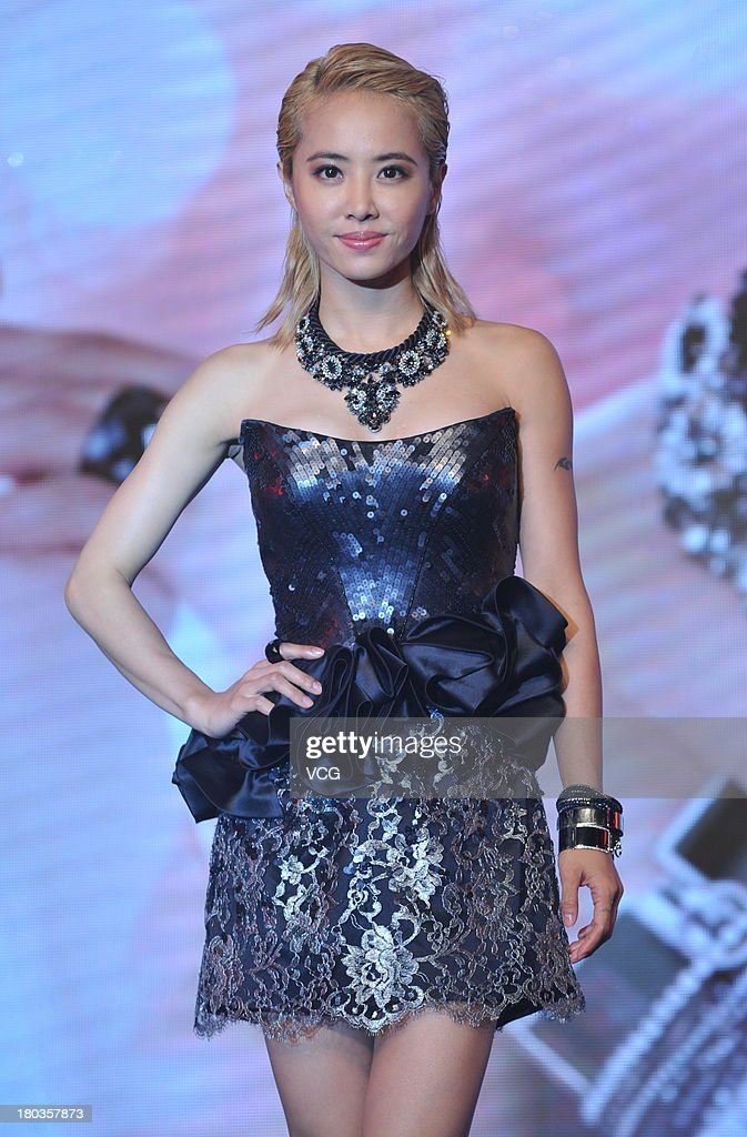 Singer <a gi-track='captionPersonalityLinkClicked' href=/galleries/search?phrase=Jolin+Tsai&family=editorial&specificpeople=647514 ng-click='$event.stopPropagation()'>Jolin Tsai</a> attends Swarovski promotional event at Oriental Plaza on September 11, 2013 in Beijing, China.