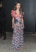 Singer Jolin Tsai is seen outside the Marc Jacobs Fall 2016 fashion show during New York Fashion Week at Park Avenue Armory on February 18 2016 in...
