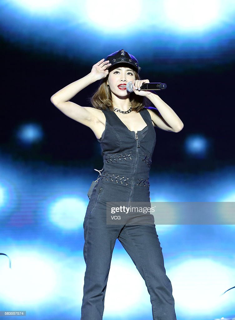 Singer Jolin Tsai performs onstage during the welcome party of 2016 Sichuan International Culture Tourism Festival on July 26 2016 in Liangshan Yi...