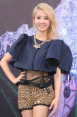 Singer Jolin Tsai promotes her new DVD of concert on Sunday October 272013 in TaipeiChina