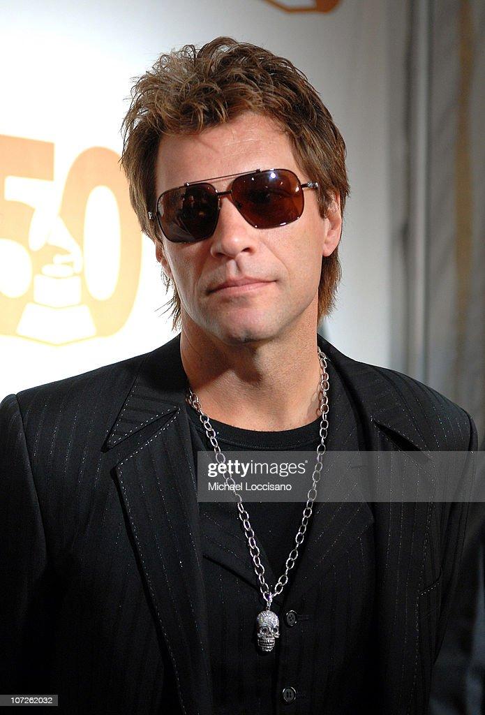 Singer Jon Bon Jovi of Bon Jovi attends the Recording Academy New York Chapter's Tribute to Bon Jovi Alicia Keys Donnie McClurkin and the creators of...