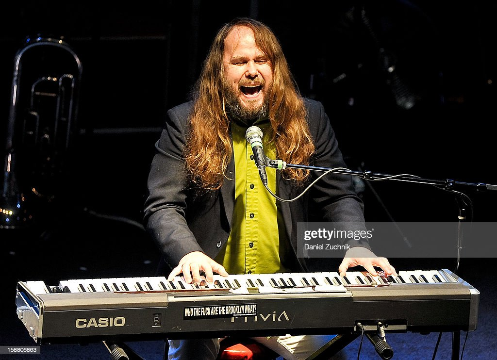 Singer Jon Cunningham of Corn Mo performs at Music Hall of Williamsburg on December 29, 2012 in the Brooklyn borough of New York City.