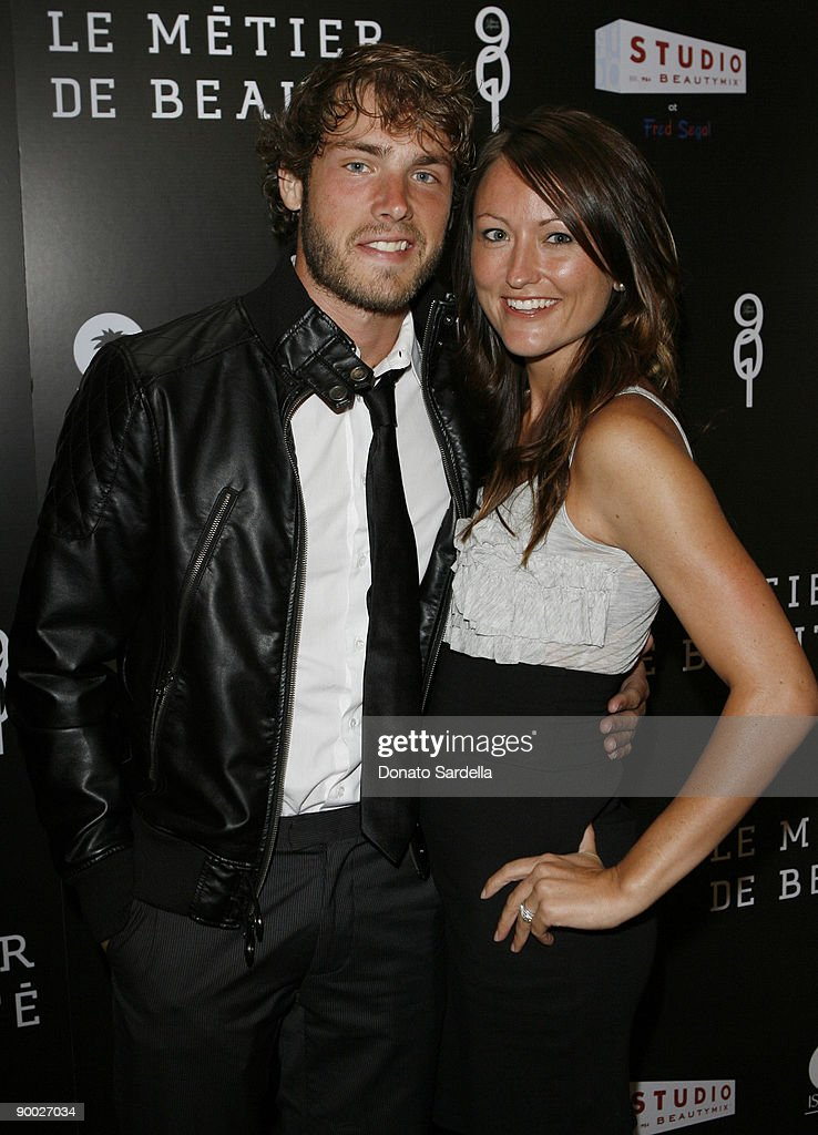 Singer Jon McLaughlin and wife Amy McLaughin attend the Le Metier De Beaute Launch At Fred Segal Studio Beauty Mix sponsored by 901 Silver Tequila on June 27, 2009 in Santa Monica, California.