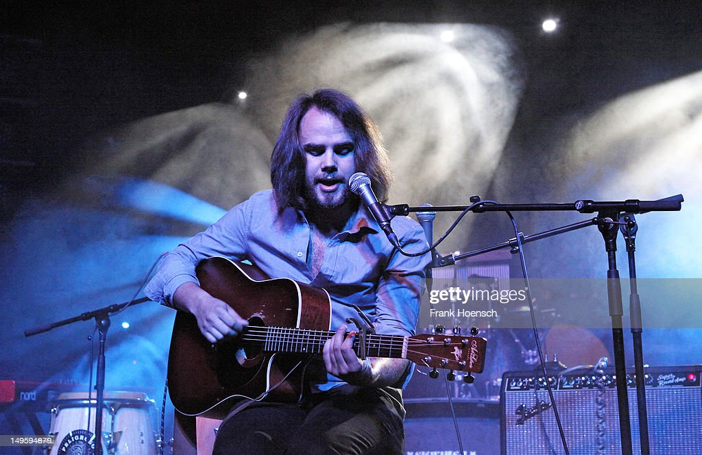 Singer Jonas David performs live in support of Xavier Rudd and Donavon Frankenreiter during a concert at the Postbahnhof on July 31, 2012 in Berlin, Germany.