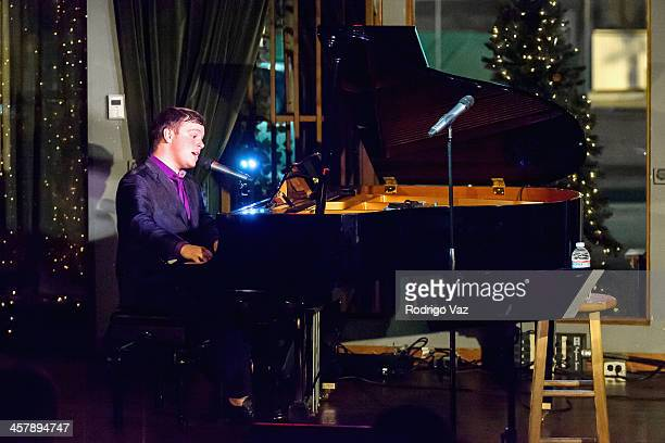Singer Jonathan Allen performs the 'Music of the Night' Holiday Show at Rockwell on December 18 2013 in Los Angeles California