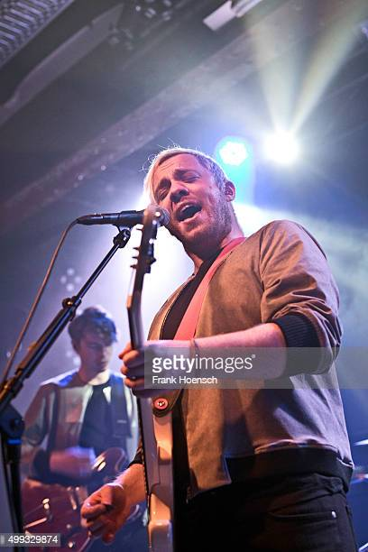 Singer Jonathan Higgs of the British band Everything Everything performs live during a concert at the Postbahnhof on November 30 2015 in Berlin...