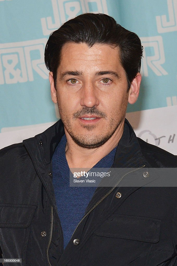 Singer <a gi-track='captionPersonalityLinkClicked' href=/galleries/search?phrase=Jonathan+Knight&family=editorial&specificpeople=1041464 ng-click='$event.stopPropagation()'>Jonathan Knight</a> of New Kids on the Block attends the New Kids on the Block fan meet and greet at J&R Music World on April 2, 2013 in New York City.