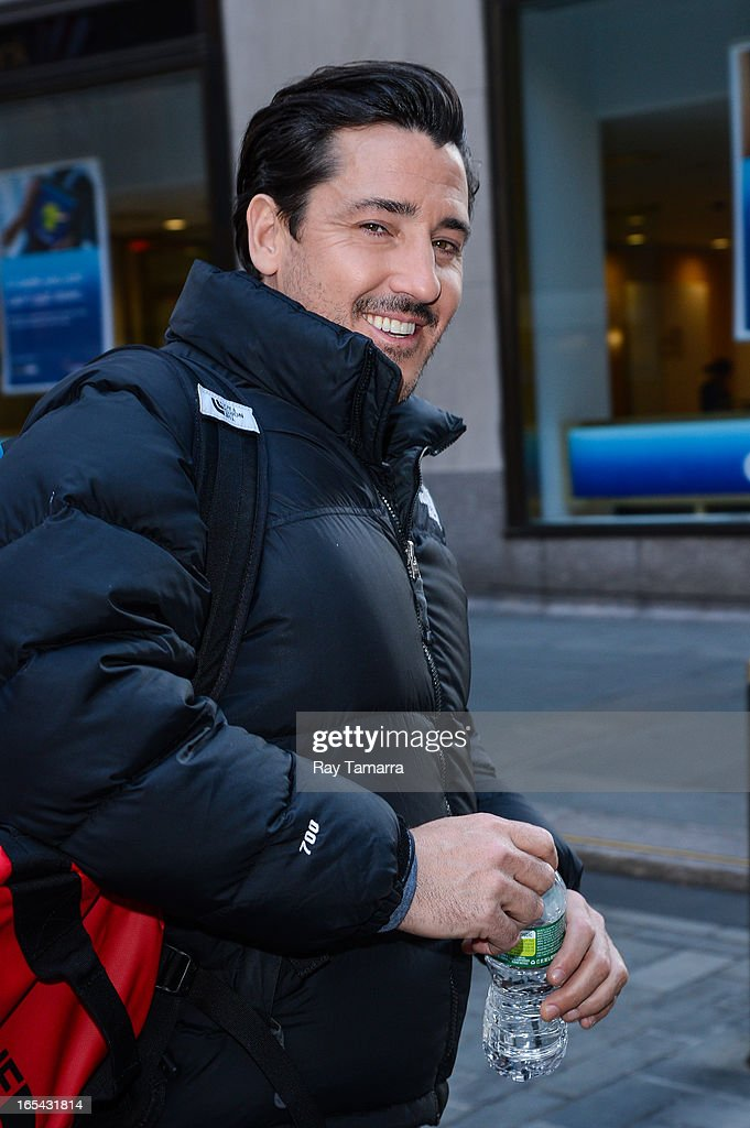 Singer Jonathan Knight of New Kids On The Block leaves the 'Today Show' taping at the NBC Rockefeller Center Studio on April 3, 2013 in New York City.