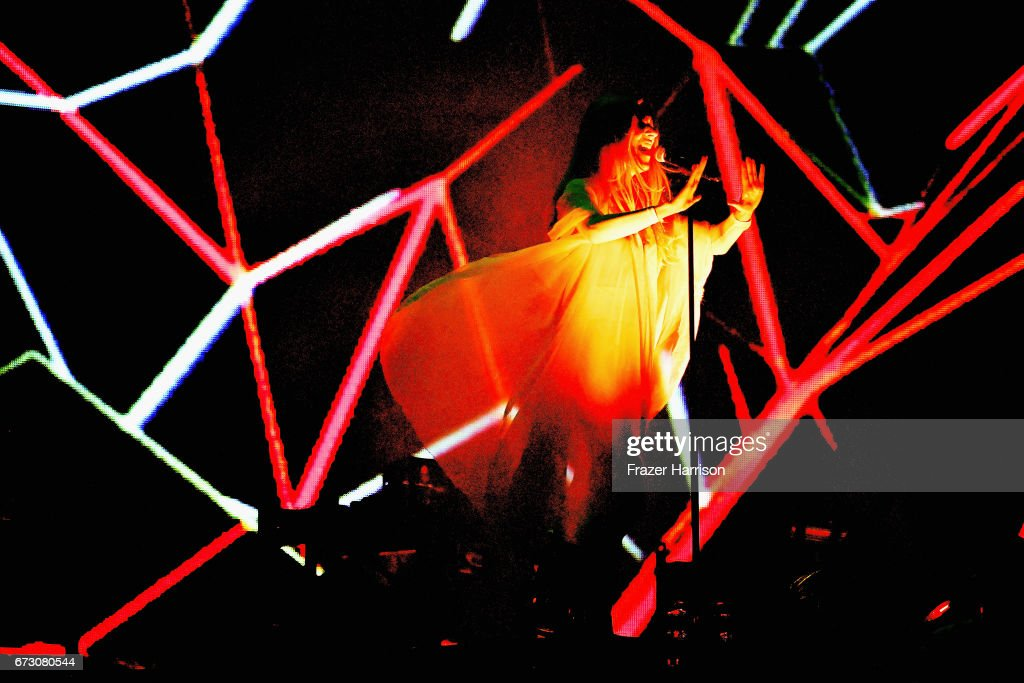 Singer Jonna Lee performs with Royksopp at the Sahara Tent during day 2 on April 22, 2017 in Indio, California.