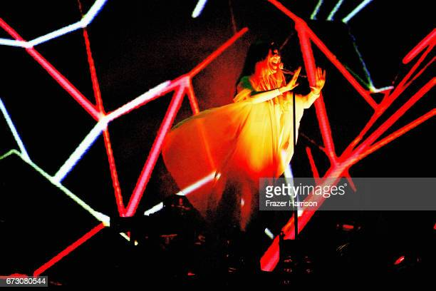 Singer Jonna Lee performs with Royksopp at the Sahara Tent during day 2 on April 22 2017 in Indio California
