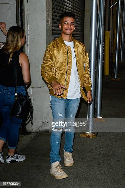 Singer Jordan Fisher enters the AOL Studios on July 19 2016 in New York City