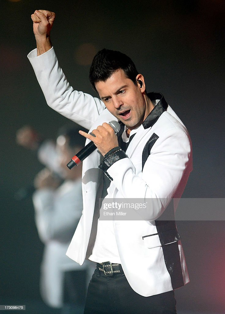 Singer <a gi-track='captionPersonalityLinkClicked' href=/galleries/search?phrase=Jordan+Knight&family=editorial&specificpeople=809007 ng-click='$event.stopPropagation()'>Jordan Knight</a> of New Kids on the Block performs at the Mandalay Bay Events Center during The Package Tour on July 6, 2013 in Las Vegas, Nevada.