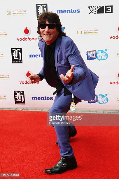 Singer Jordan Luck poses for a photo on the red carpet at the Vodafone New Zealand Music Awards at Vector Arena on November 19 2015 in Auckland New...