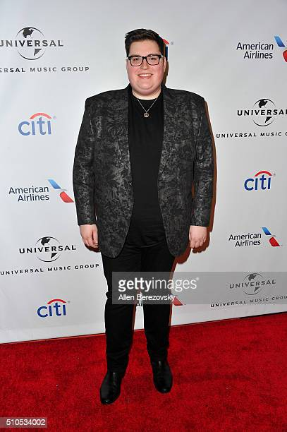 Singer Jordan Smith attends Universal Music Group's 2016 GRAMMY after party at The Theatre At The Ace Hotel on February 15 2016 in Los Angeles...