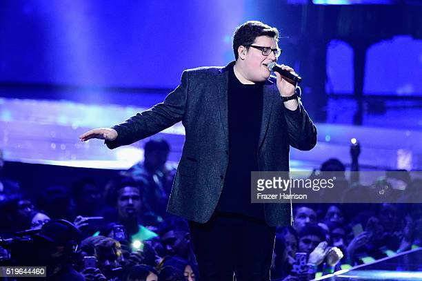 Singer Jordan Smith performs onstage at WE Day California 2016 at The Forum on April 7 2016 in Inglewood California