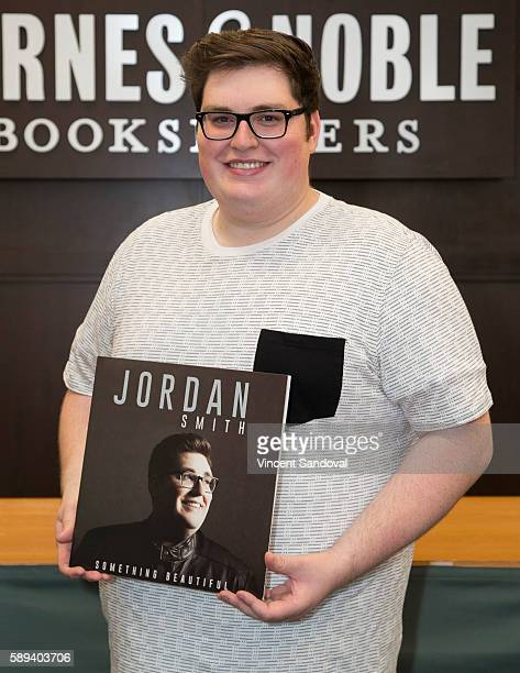 Singer Jordan Smith signs copies of his new album 'Something Beautiful' at Barnes Noble at The Grove on August 13 2016 in Los Angeles California