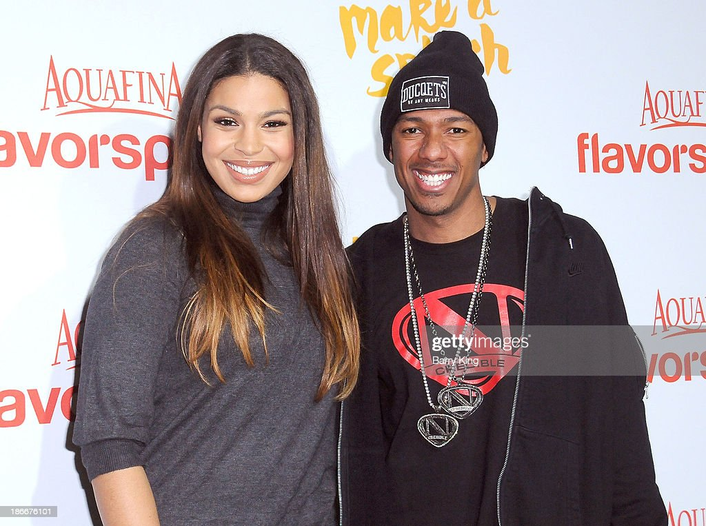 Singer <a gi-track='captionPersonalityLinkClicked' href=/galleries/search?phrase=Jordin+Sparks&family=editorial&specificpeople=4165535 ng-click='$event.stopPropagation()'>Jordin Sparks</a> (L) and TV personality <a gi-track='captionPersonalityLinkClicked' href=/galleries/search?phrase=Nick+Cannon&family=editorial&specificpeople=202208 ng-click='$event.stopPropagation()'>Nick Cannon</a> attend the Aquafina FlavorSplash Launch on October 15, 2013 at Sony Pictures Studios in Culver City, California.