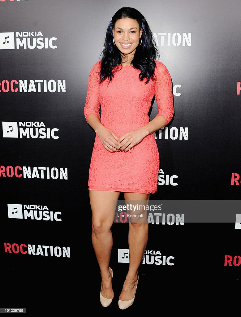 Singer <a gi-track='captionPersonalityLinkClicked' href=/galleries/search?phrase=Jordin+Sparks&family=editorial&specificpeople=4165535 ng-click='$event.stopPropagation()'>Jordin Sparks</a> arrives at Roc Nation Hosts Annual Private Pre-GRAMMY Brunch at Soho House on February 9, 2013 in West Hollywood, California.