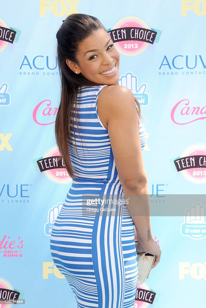 Singer Jordin Sparks arrives at the 2013 Teen Choice Awards at Gibson Amphitheatre on August 11 2013 in Universal City California