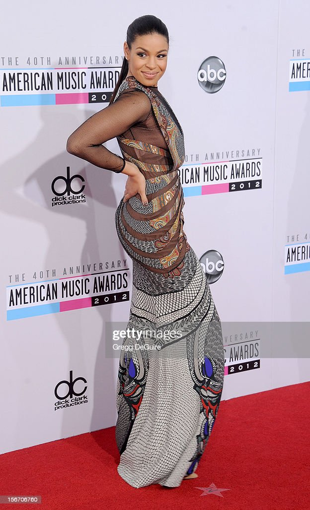 Singer Jordin Sparks arrives at the 40th Anniversary American Music Awards at Nokia Theatre L.A. Live on November 18, 2012 in Los Angeles, California.