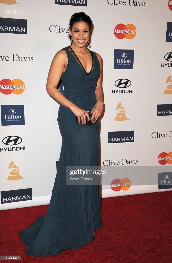 Singer Jordin Sparks arrives at the 55th Annual GRAMMY Awards Pre-GRAMMY Gala and Salute to Industry Icons honoring L.A. Reid held at The Beverly Hilton on February 9, 2013 in Los Angeles, California.