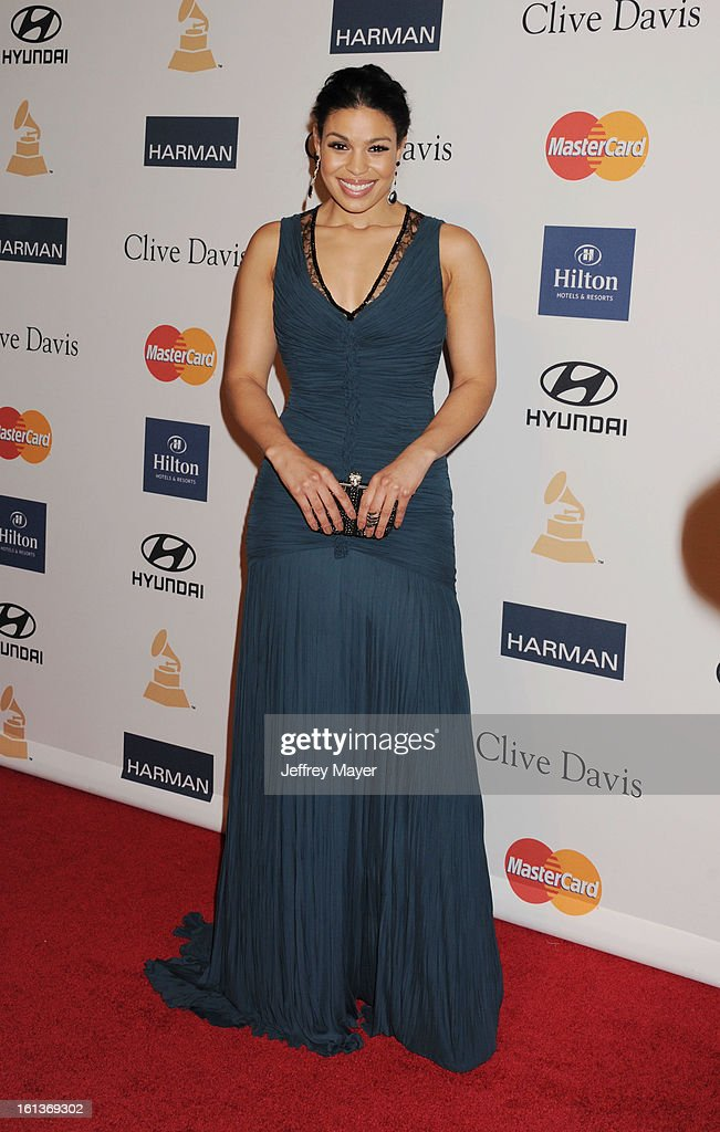 Singer Jordin Sparks arrives at the The 55th Annual GRAMMY Awards - Pre-GRAMMY Gala And Salute To Industry Icons Honoring L.A. Reid at the Beverly Hilton Hotel on February 9, 2013 in Los Angeles, California.