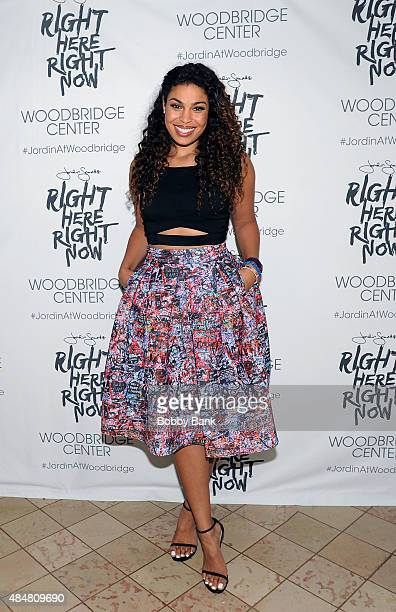 Singer Jordin Sparks attends a meet and greet for the release of her new album 'Right Here Right Now' at Woodbridge Center on August 21 2015 in...